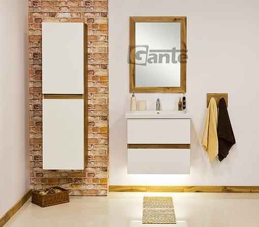 60 cm white oak vanity unit