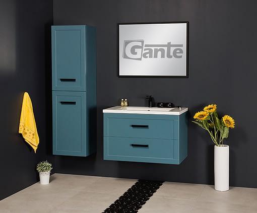 blue vanity unit 80cm
