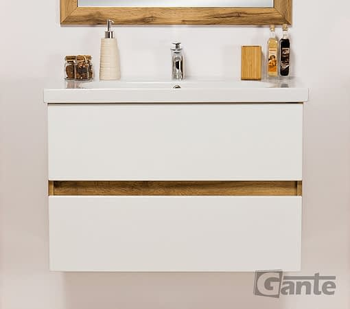 vanity unit with LED lights