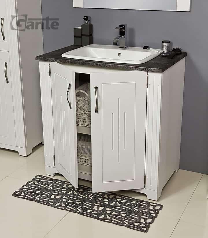 white bathroom cabinet 80cm