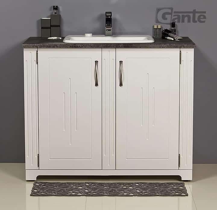white vanity unit 100cm