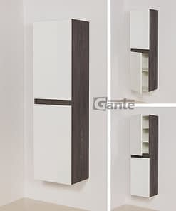 Tall storage unit white/grey