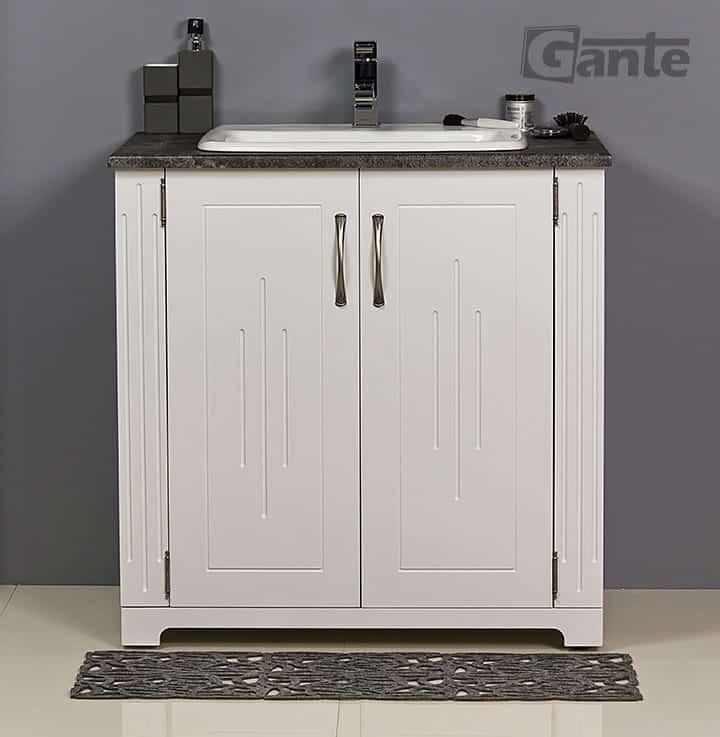 white vanity unit 80cm
