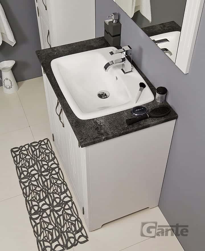 white vanity unit