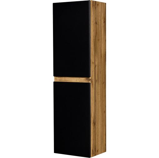 Tall storage unit black/oak ireland
