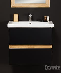 60cm black/oak vanity unit ireland