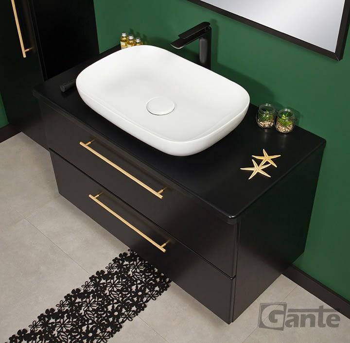 100cm black matt vanity unit ireland