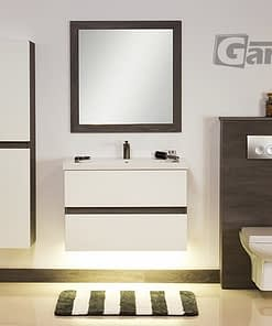 80cm vanity unit white/grey with LED