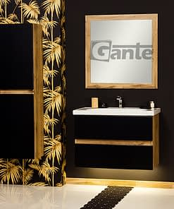 80 cm vanity unit black/oak ireland