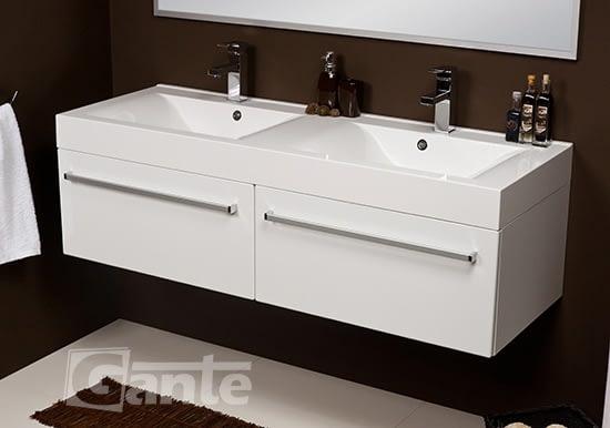 140 cm white vanity unit